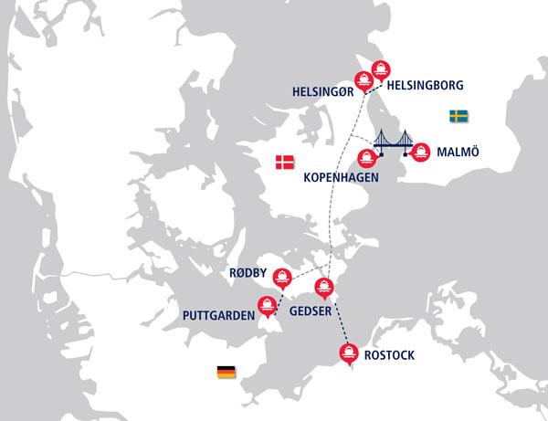 Nejkratší cesta na sever Evropy vede neměckými dálnicemi do přístavu  Rostock 2dc5a70b73e7e